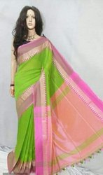 Khadi Cotton Temple Work Sarees