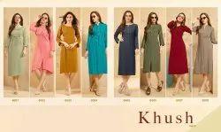 Rayon Stitched Ladies Kurti, Age Group: 15 To 60