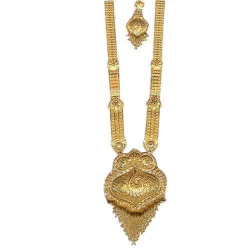 Trendy Gold Long Necklace at Rs 50000 set Gold Necklace ID