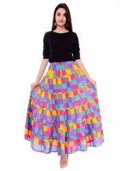 Printed Patchwork Skirt