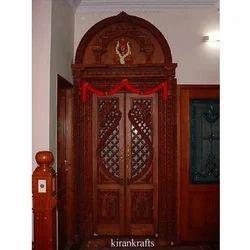Brown Mahogany Wood Door