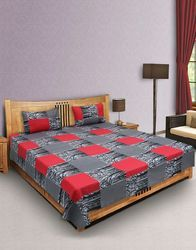 Sqaure Printed Cotton Bedsheet