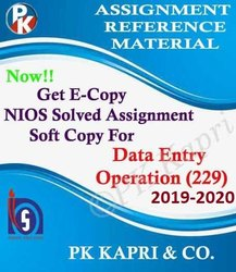Data Entry Operation (229) Online Nios Solved Assignment - NIOS TMA 2019 - 2020 in PDF