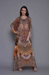 Round Neck Long Kaftan