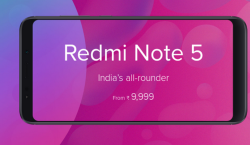 Black Redmi Note 5 Mobile