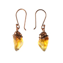 Citrine Pendant Earring Set