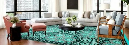 Rectangular Plain Area Rugs Rs 210