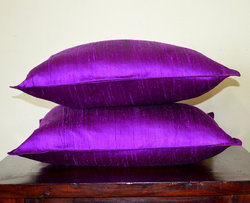 Dupioni Purple Cushion Cover