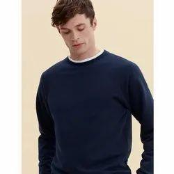 Blue Plain Full Sleeve T-shirts