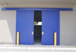 Stainless Steel Blue Insulated Sliding Door, For In Cold Room