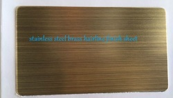Stainless Steel Brass Hairline Finish Sheet