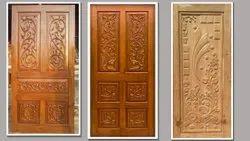Interior Teak Wood Carving Door