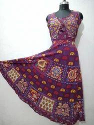 Rajasthani Maxi Style Long Koti Dress