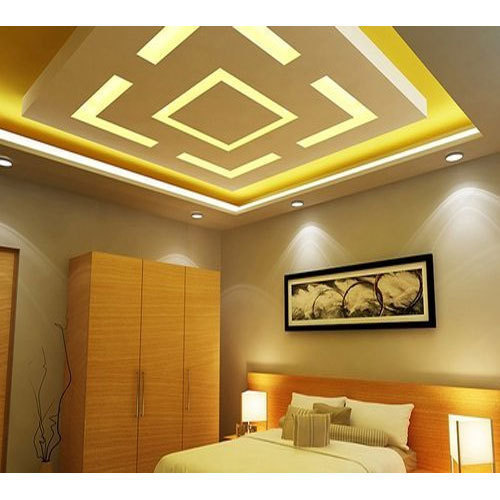 POP Tamper Proof Bedroom False Ceiling, Rs 60 /square Feet