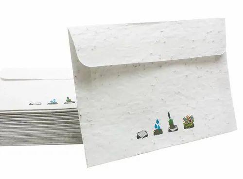 Lal10 Seed Paper Envelops, Rectangular, For Envelope