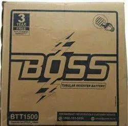 150 Ah Exide Boss BTT 1500 36M Tubular Inverter Battery