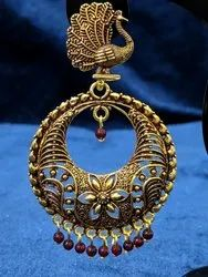 Black Oxidized Ethnic Golden Jhumka