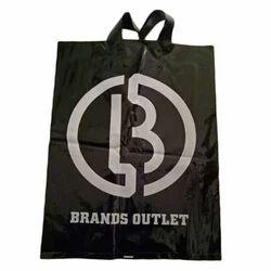 Black Printing Plastic Loop Handle Poly Bag