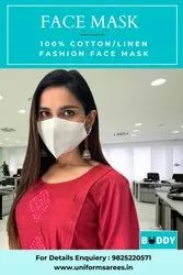Linen Denim Fabrics Double Layered Eco-Friendly Non Surgical Premium Fashion Face Mask