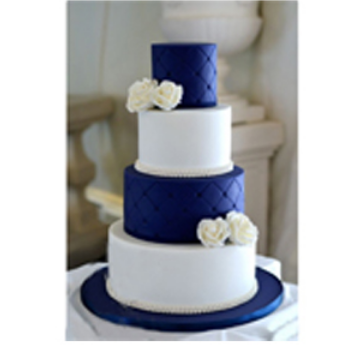Navy Blue White Wedding Cake व ड ग क क श द क