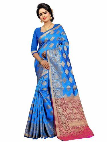 3b7c94adf Indian Kanchipuram Silk Party Wear Saree
