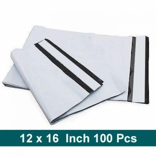 White & Black 12 X 16 Pod Printed Courier Bags, Size: Min 4x6, Max 20x23