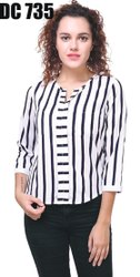 3/4th Sleeve Multicolor Ladies Fancy Top