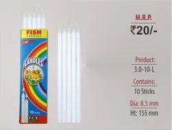 Plain Candles 3.0-10-L