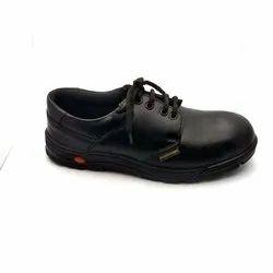 Men Black Leather Safety Shoes