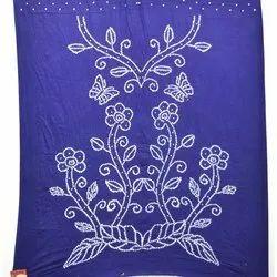 Blue Color Fancy Design Cotton Bandhani Kurti