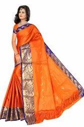 Pochampally Jacquard Ora Silk Sarees