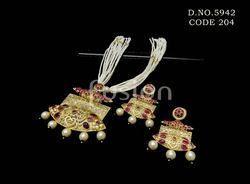 Traditional Rajwadi Matt Pendant Set