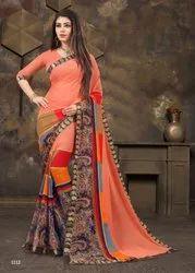 Bollywood Printed Marble Saree