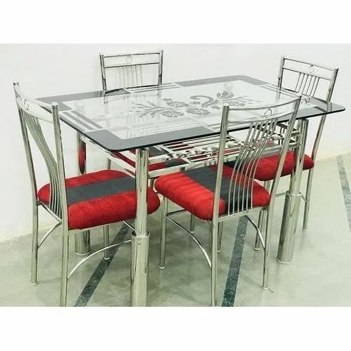 Dining Table Set 4 Seater Stainless Steel Dining Table Set Manufacturer From Ulhasnagar