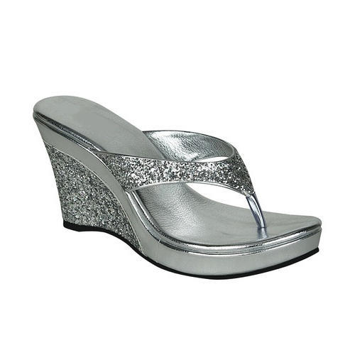 c64195d8d Silver Ladies Party Wear Wedges Slippers, Size: 36 To 41, Rs 310 ...