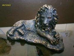Brand New Lion Marble Powder Artifacts. (Gold Black)