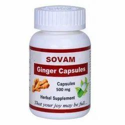 Sovam Ginger Capsule, Packaging Type: Bottle, 500 Mg