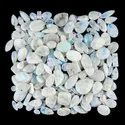 Natural Rainbow Moonstone Plain Cabochon in Assortment For Jewellry Making Loose Gemstone
