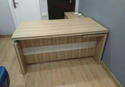 Executive Table With Side credenza