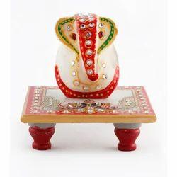 Silver Chowki Ganesh