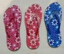 Embroidered Ladies Fabrication Flip Flops, Size: 4+7, 4+8