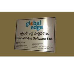 Stainless Steel Etching Sign Board