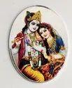 Radha Krishna Color Silver Coin 20 gm