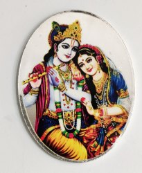 Radha Krishna Color Silver Coin 20 gm
