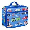 Polyester Blue Printed Lunch Bag