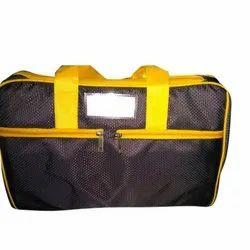 Polyester Black and Yellow Executive Travel Bag