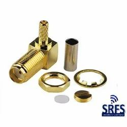 SMA Female RA Crimp Connector for RG 316