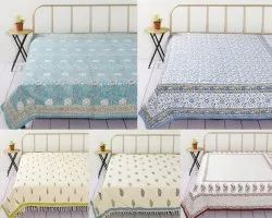 Block Printed Cotton Double  Bed Sheet