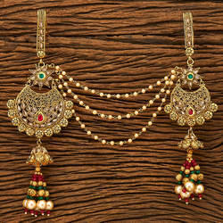 Antique Double Jhuda With Gold Plating 19933