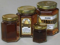 Hexagonal Honey Glass Jars